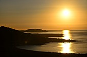 Sunset at the lighthouse of L'Ile -Rousse, northern Corsica, France