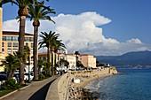 Cloud formation on Boulevard Lantivy, Ajaccio, western Corsica, France