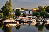 Boathouse at Tiefen See, Havel, Schiffbauergasse, Potsdam, Brandenburg, Germany