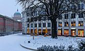 Otto Braun Platz, City Palace and Nikolaikirche, Potsdam, Brandenburg, Germany