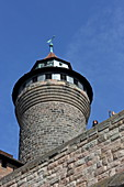Sinwell tower in the Kaiserburg, Nuremberg, Middle Franconia, Bavaria, Germany