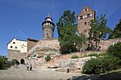 Kaiserburg mit Sinwellturm, Nürnberg, Mittelfranken, Bayern, Deutschland
