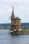 Lighthouse, harbor, Constance, Lake Constance, Baden-Wuerttemberg, Germany