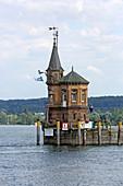 Leuchtturm, Hafen, Konstanz, Bodensee, Baden-Württemberg, Deutschland