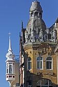 Jugendstilhäuser in der Rosengartenstrasse, Altstadt, Konstanz, Baden-Württemberg, Deutschland