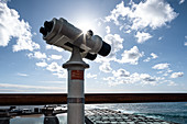 Telescope at the Salinas de Punta Larga, Fuencaliente, La Palma, Canary Islands, Spain, Europe