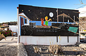 Street art in the fishing village of la Bombilla, La Palma, Canary Islands, Spain, Europe