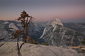 Half Dome in Yosemite National Park in the sunset, USA