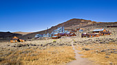Old gold mining settlement of Bodie ghost town, an old gold mining town in California, United States