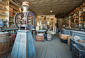 A shop in the ghost town of Bodie, an old gold mining town in California, United States