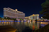 At the Bellagio Hotel at night in Las Vegas, USA