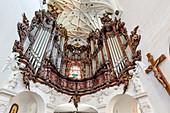 The famous great Oliwa organ, Archcathedral baroque church in Gdansk Oliwa, Gdansk Oliwa, Pomorze region, Pomorskie voivodeship, Poland, Europe