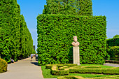Oliwski Park,  sculpture of Swietopelk II, Duke of Pomerania. Gdansk Oliwa, Pomorze region, Pomorskie voivodeship, Poland, Europe