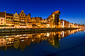 Altstadt am Fluss Motlawa, Mottlau am Krantor, Danzig, Polen, Europa