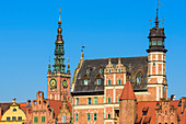 Altstadt, Turm des Rathauses und Archäologisches Museum, Danzig, Polen, Europa