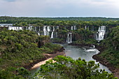 Overhead of Iguazu Falls, Iguaçu National Park, Paraná, Brazil, South America