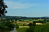 View over the fields and the beautiful landscape at Branston, Lincolnshire, England