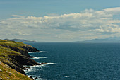 Cliffs and wild Atlantic Ocean near Annascaul, County Kerry, Ireland