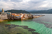 The small town of Saint Florent in northern Corsica, France, Mediterranean, Europe