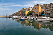 Boats moored in the port at Bastia, Corsica, France, Mediterranean, Europe