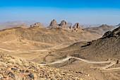 Assekremgebirge, Tamanrasset, Hoggar-Gebirge, Algerien, Nordafrika, Afrika