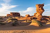 Sunset in the Sahara Desert near Timimoun, western Algeria, North Africa, Africa