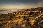 Sunrise at Traigh Eais, looking north, Barra, Outer Hebrides, Scotland, United Kingdom, Europe