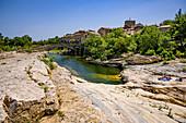 Flussbad, Ribaute, Okzitanien, Frankreich