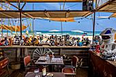 Chez Biquet beach restaurant, Leucate Plage, Occitania, France