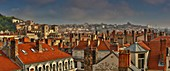 France, Rhone, Lyon, listed as World Heritage by UNESCO, view of St. Jean's Cathedral and part of the historic city center