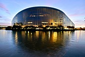France, Bas Rhin, Strasbourg, European Parlement by the architecture firm Architecture Studio