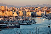 France, Bouches du Rhone, Marseille, the Old Port and the Big Wheel for the holidays of Christmas