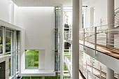 Interior shot, Frieder Burda Museum, architect Richard Meier, Baden-Baden, Black Forest, Baden-Württemberg, Germany