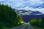 Klondike Highway between British Columbia and Yukon towards Carcross