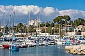 France, Alpes Maritimes, Cap d'Antibes, Juan les Pins, Crouton harbour
