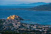 France, Haute Corse, Calvi, port and citadel