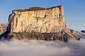 France, Isere, Parc Naturel Regional du Vercors (Natural regional park of Vercors), Trieves, nature reserve highlands of Vercors, the Mont Aiguille (2086m)