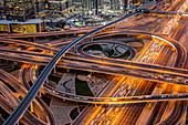 Road Intersection, Dubai, United Arab Emirates, Middle East
