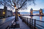 Tower of London and Tower Bridge, London, England, United Kingdom, Europe