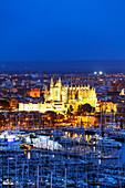 La Seu Cathedral, Palma de Mallorca, Majorca, Balearic Islands, Spain, Mediterranean, Europe