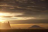 Sonnenaufgang in der Gerlache-straße, Antarktis, Polarregionen