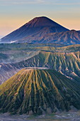 Early sunrise at the Mount Bromo crater, Bromo Tengger Semeru National Park, Java, Indonesia, Southeast Asia, Asia