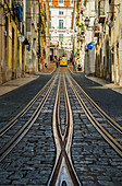View of the Bica Funicular, Lisbon, Portugal, Europe
