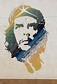 A wall painting of Che Guevara in Habana Vieja (old town), Havana, Cuba, West Indies, Central America