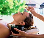 Facial compresses, spa treatment, Malaysia, Southeast Asia, Asia