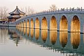 Seventeen Arch Bridge, Kunming Lake, Summer Palace, Beijing, China