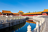 Inner Golden Water river flowing through the Outer Court, Forbidden City complex, Beijing, China, Asia