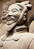 Close-up of Terracotta Army Warrior, Xian, Shaanxi Province, China, Asia