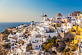 Windmill and traditional houses, Oia, Santorini (Thira), Cyclades Islands, Greek Islands, Greece, Europe