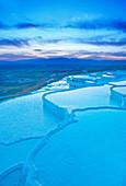 Terraced travertine thermal pools, Pamukkale, UNESCO World Heritage Site, Anatolia, Turkey, Asia Minor, Eurasia